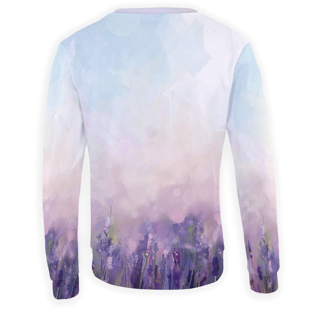 MOOCOM Mens Crewneck Lavender Sweatshirt