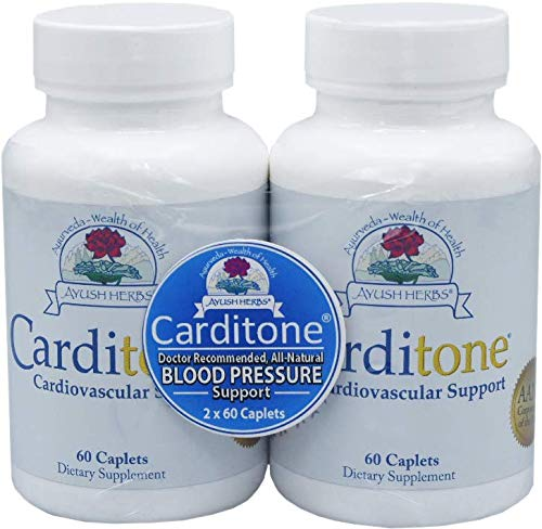 Image of Ayush Herbs Carditone Supplement, 60 Capsules (Pack of 2)