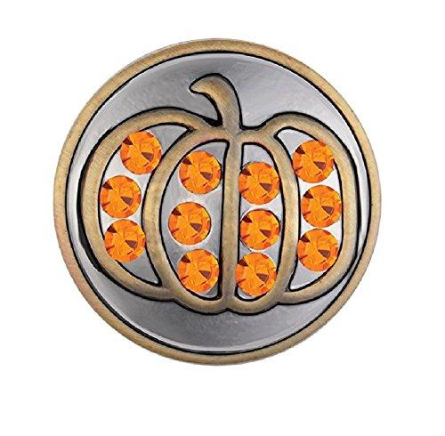 Ginger Snaps Brass Pumpkin SN19-29 (Standard Size) Interchangeable Jewelry -