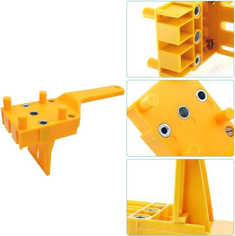 Holzbearbeitung Doweling Jig Kit Taschenloch Bohrvorrichtung Werkzeuge IWILCS 44pcs Holzbearbeitungsd/übel Set f/ür die Holzbearbeitung 6 mm 8 mm 10 mm Bohrer-Kit