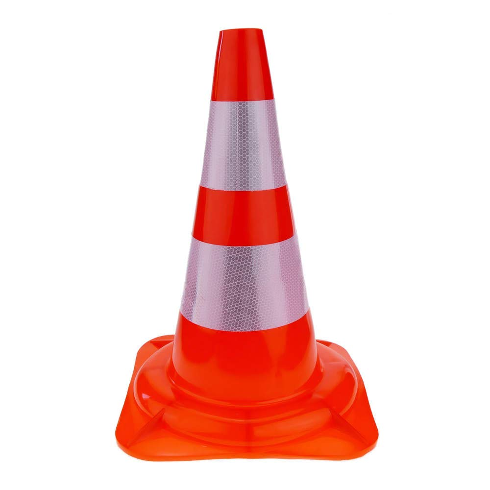 Rubber traffic cone with height 470mm Cablematic.com PN29071518200126954