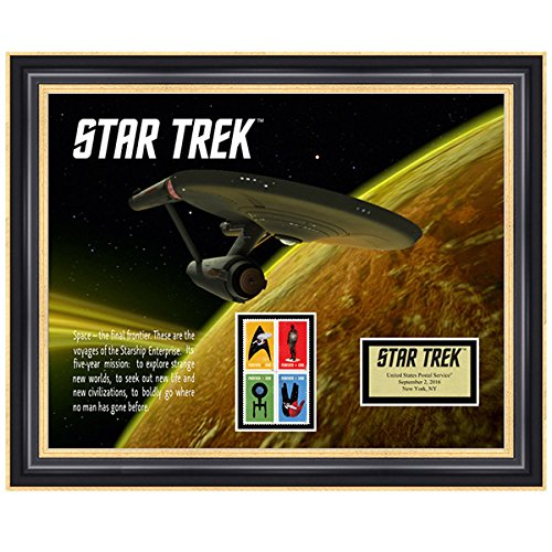 Star Trek U.S.S. Enterprise Framed Stamp Art, 17 by 14-Inch