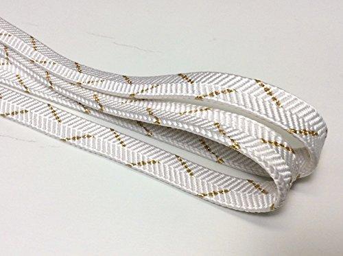一枚物白金帯締め 平組 手組 正絹
