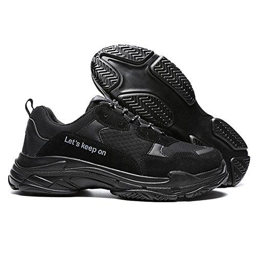Madaleno Chaussures de Sport Homme Mode Décontractée Baskets Casual Sports Entraînement Noir rCq4MpT4