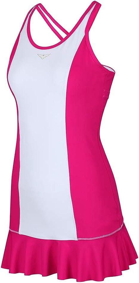 Vestido de tenis rosa y blanco para niñas, vestido de tenis con ...