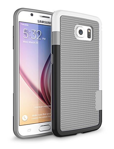 Gray, Zectoo Hybrid Impact 3 Color Slim Rugged Defender Protective Bumper Cute Women Girls Flexible Enhanced Non-slip Grip Case Soft Cover for Samsung Galaxy S6 S VI G9200 GS6 ()