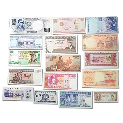 - World Banknotes Collection - 16 Asian Banknotes - Foreign, Currency, Uncirculated