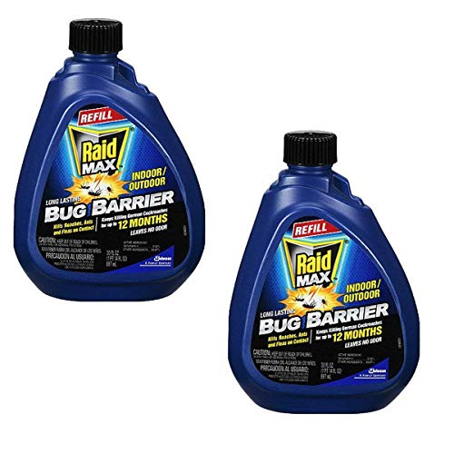 SC Johnson Raid Max Bug Barrier Pesticide Refill, 30-Ounce, Pack of 2 -