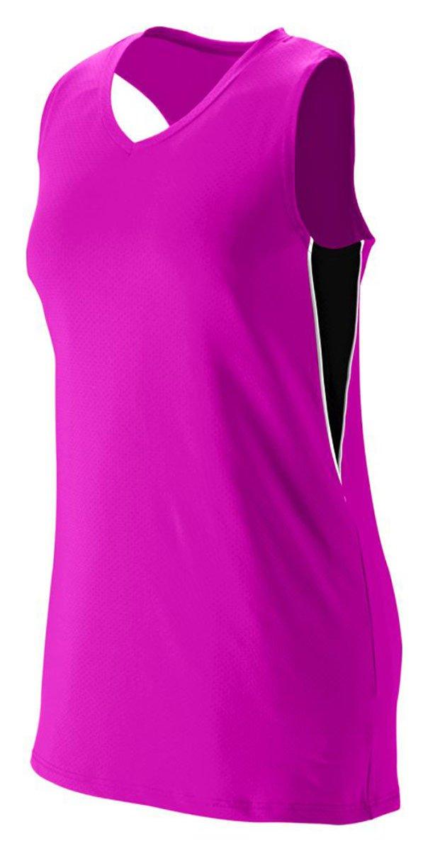 Augusta Sportswear Girls ' Inferno Jersey B00HJTKA1Y Medium|Power Pink/Black/White Power Pink/Black/White Medium
