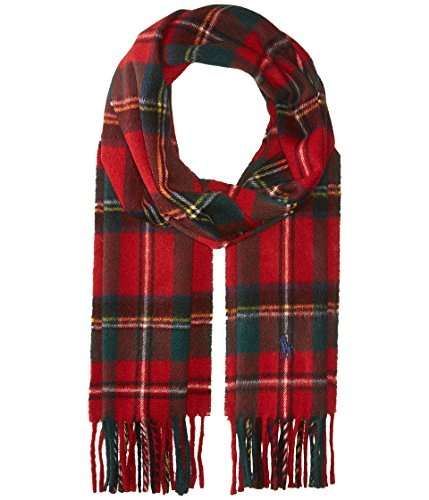 Polo Ralph Lauren Men`s Tartan Wool Scarf (Holiday Tartan (6F0529-619), One Size)