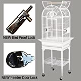 KING'S CAGES Superior Luxury Line Small Cage SLUX 1816 / 9001818 PARROT CAGE 18X16X57 bird cages toy toys Parakeet Canary cockatiel lorie (WHITE)
