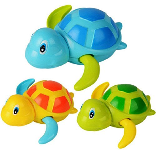 Turtle bath toys tub pool water toy cute wind up animal for Turtle fish games