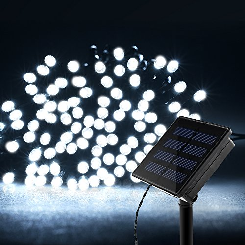 Ideaworks Outdoor Solar String Led Lights: Litom Outdoor Solar String Lights 200 LED Solar Decorative