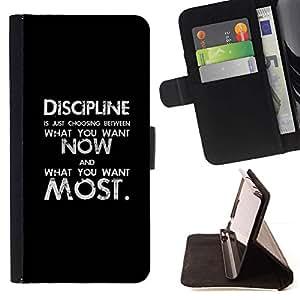 Momo Phone Case / Flip Funda de Cuero Case Cover - Texte noir Inspiring message - HTC Desire 626