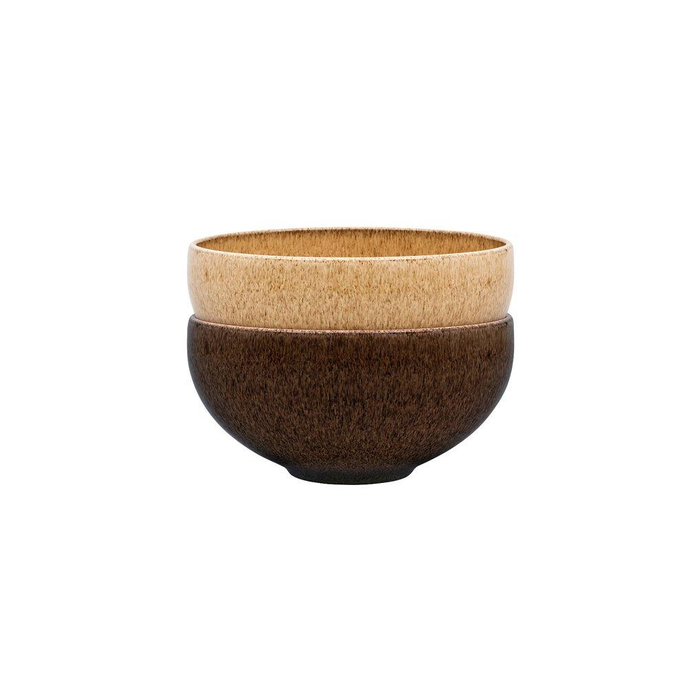 Denby Studio Craft 2 Piece Ramen/Large Noodle Bowl Set, Ceramic, Multi/Colour, 18 x 18 x 13 cm 395045042