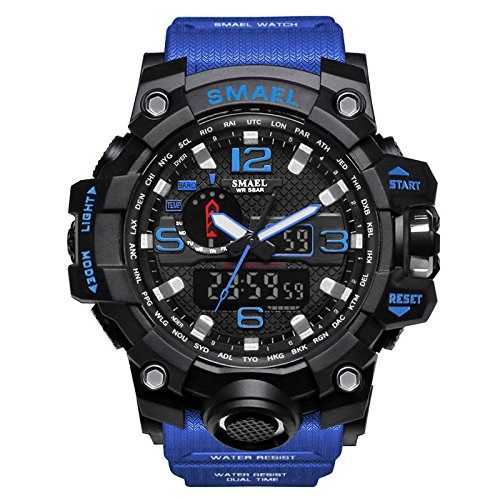 Ocamo Sport Watch Male Multifunctional Sports Digital Watch Christmas Birthday Gift Dark blue