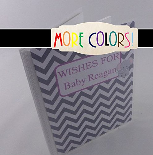 Baby shower guest Advice Book. 365. Elephant and Chevron . EMPTY Personalized baby photo album. 4x6 or 5x7 girl or boy