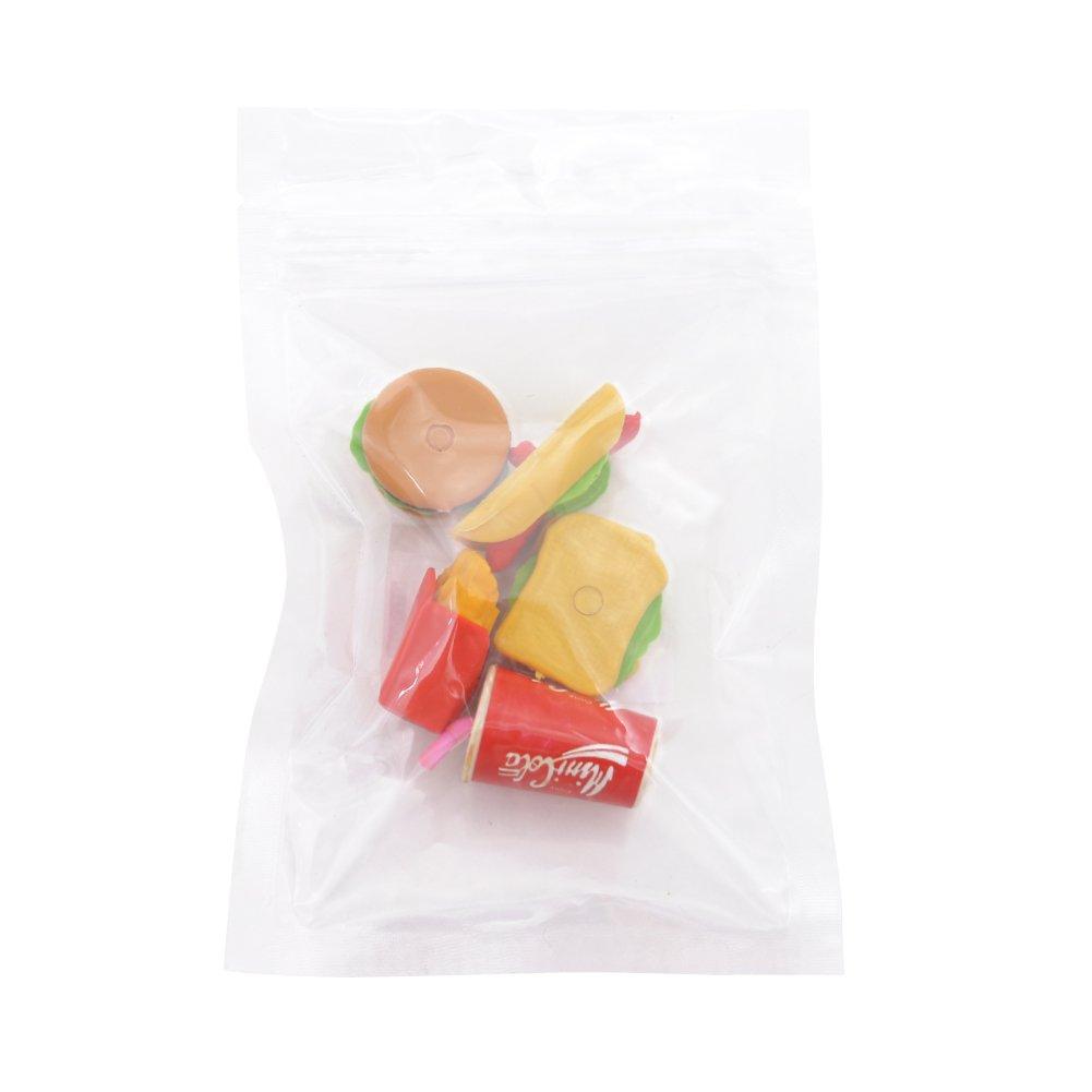 LoveInUSA Junk Food Theme Erasers Simulated Fast Food Rubber Set of 5,Cola Random Color by LoveInUSA (Image #7)