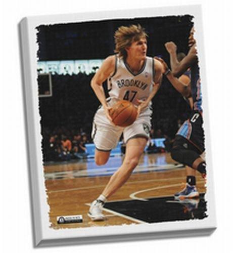 Andrei Kirilenko Nets 32x40 Stretched Canvas by Steiner Sports