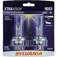 SYLVANIA 9003 (también se adapta a H4) Bombilla halógena para faros delanteros XtraVision, (contiene 2 bombillas)