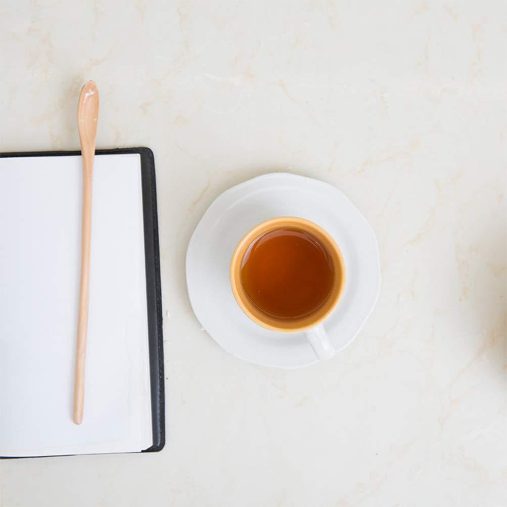 UPKOCH R/ührl/öffel mit langem Griff aus Holz f/ür Kaffee und Honig R/ührutensilien f/ür Bar zu Hause Trinken R/ühren 2 St/ück