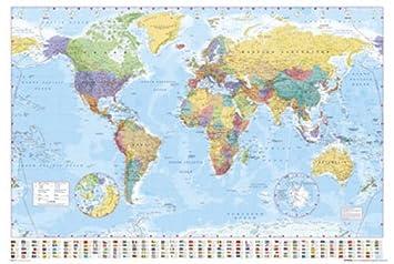 ポスター 世界地図 GN,0214