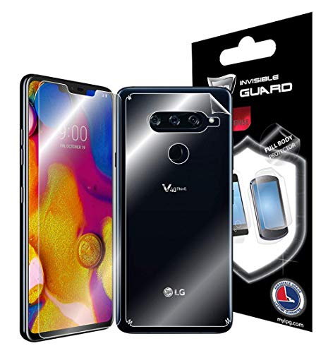 IPG for LG V40 Thin Q Full Body Protection Invisible Phone Cover Protector Ultra HD Clear Film Skin Free Lifetime Replacement Warranty (Skin Phone Protector Cover)