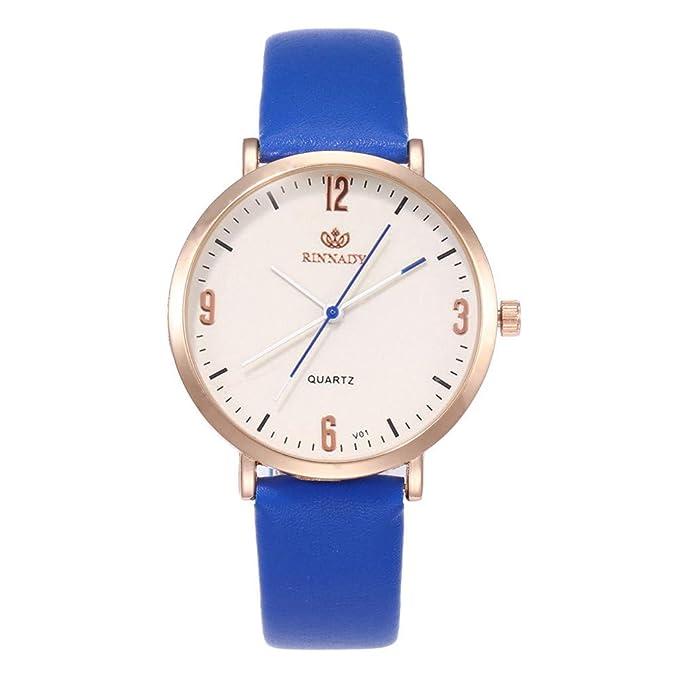 Relojes Pulsera Mujer,BBestseller Moda Cuero PU Acero Inoxidable Analógico Cuarzo Reloj Pulsera de Negocios