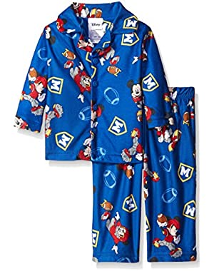 Baby Boys' Mickey Mouse Iconic Character 2-Piece Pajama Coat Set
