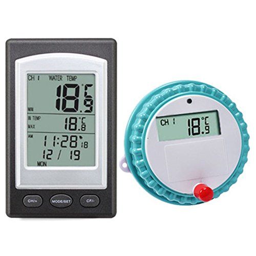 SODIAL Professional Wireless Digital Swimming Pool Thermometer