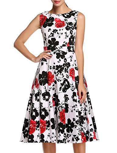 ACEVOG Womens Vintage Sleeveless Floral product image