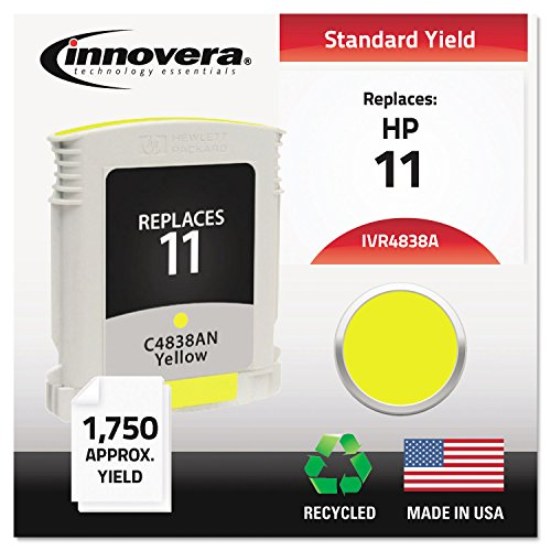 Innovera 4838A, 4837A, 4836A Inkjet Cartridge - 4838A Compatible, Remanufactured, C4838A (11) Ink, 1750 Page-Yield, Yellow (Ink Cp Jet System)