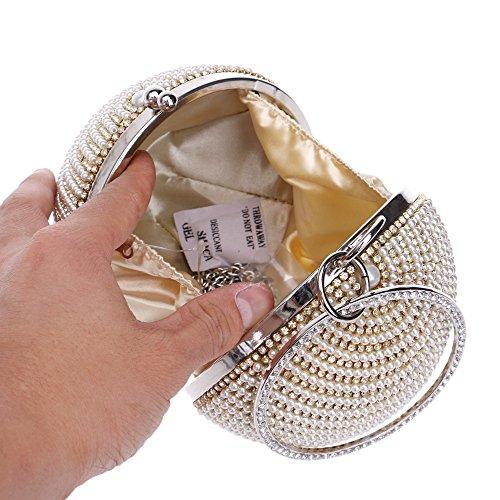 Flada - Cartera de mano para mujer amarillo Champagne1 mediano negro