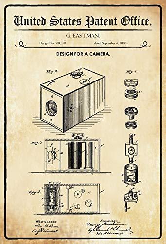Cartel de Chapa genérica 30 x 20 cm U.S. Patent Office ...