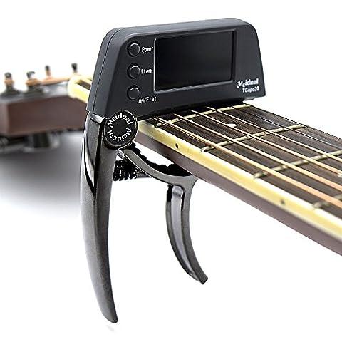 Clip-On Chromatic Guitar Tuner-Loftstyle Professional Guitar Tuner for Acoustic, Bass, 6 & 12 string Guitars, Banjo, Mandolin, Ukulele, Violin, Cello, Trumpet, Brass, Sax, Flute, (Professional Guitar Tuner)