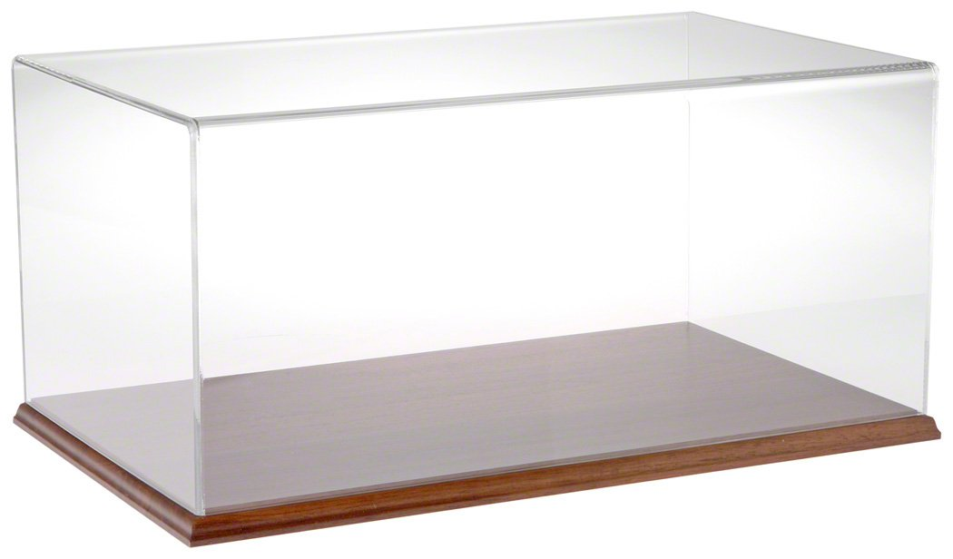 Plymor Brand Clear Acrylic Display Case with Hardwood Base, 20'' W x 12'' D x 9'' H