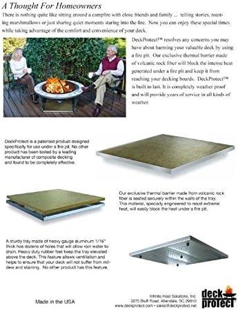 Amazon Com Deckprotect 16 X16 Fire Pit Insulation Black Garden Outdoor