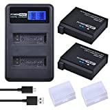PowerTrust 2 Pack 1680mAh AHDBT-401 Battery LCD Dual USB Charger Gopro Hero 4 Batteries Go Pro Hero4 AHDBT 401 Action Camera Accessories