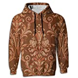 Paskcc Men's Hoodie Classic Hooded Printed Egyptian Traditional Red University