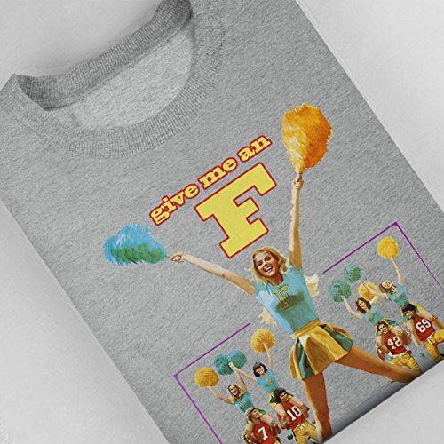 Give Me An F Cheering Section Women's Sweatshirt Heather Grey