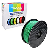 TIANSE Green PLA 3D Printer Filament 1.75mm 1KG Spool Filament for 3D Printing, Dimensional Accuracy +/- 0.03 mm by TIANSE