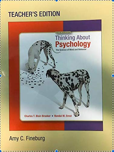 Download Thinking about Psychology Instructor's Edition ebook