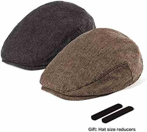 f56fe40ce53 LADYBRO Men Newsboy Cap Ivy Hat - 30% Wool Cabbie Hats for Men Irish Tweed