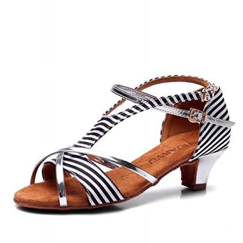 Zapatos de Sandalias Jazz Modern Tobillo de Mujer Baile Zapatos Baile de de Samba Zapatos 38 de BYLE Latino Baile Cuero pAOTgwqTx