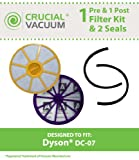 High Quality Dyson DC-07 Filter & Seal Kit; Compare to Dyson Part Nos. 90142-02, 921623-01, 901420-01, 904979-02, 905401-01; Designed & Engineered by Think Crucial