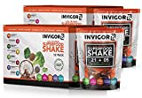 INVIGOR8 Superfood Shake Gluten-Free and Non GMO Meal Replacement Grass-Fed Whey Protein Shake with Probiotics and Omega 3 (645g) (Pouches (12-pk) Chocolate Brownie) (2 Pack Chocolate (Save 15))