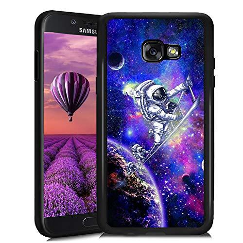 SYtrad Dorado Fish Tail - Carcasa para Samsung Galaxy A5 2017 (TPU, antigolpes, antiarañazos, Antideslizante), Color Negro,...