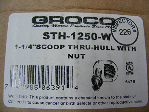 Bronze Thru Hull Scoop Strainer by Groco (Image #7)