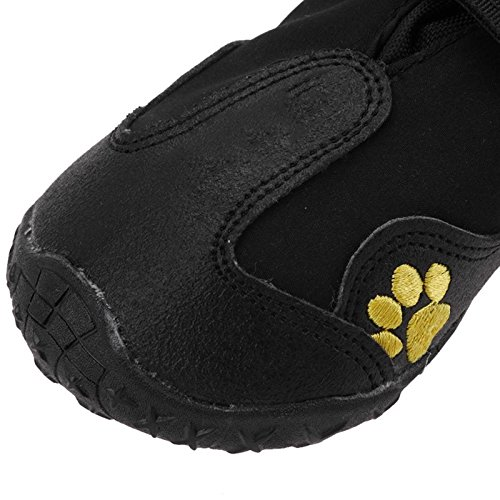 Black Size M 4Pcs/set Waterproof Pet Dog Shoes Outdoor Sport Non Slip Shoes for Winter Warm Dog Boots