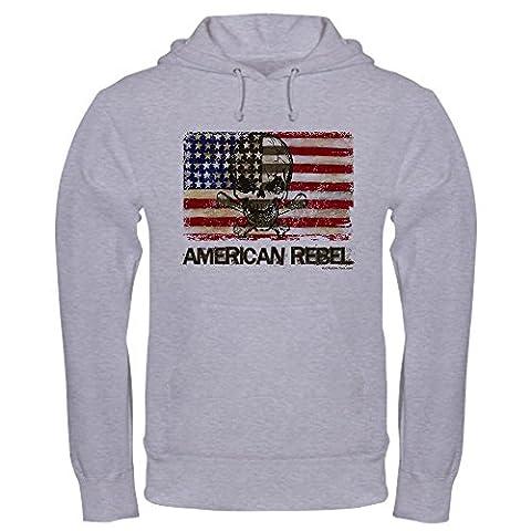CafePress - Flag-Painted-American Rebel-3 Hoodie - Pullover Hoodie, Classic & Comfortable Hooded (Rat Bones Jacket)
